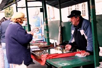 Il mercatino delle pulci nel quartiere ebraico
