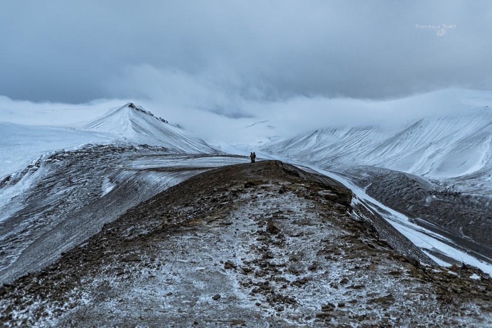 Larsbreen Glacier. Norvegia Svalbard Island - Longyearbyen