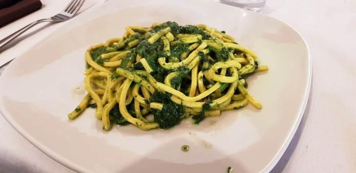 La pasta fresca coi caliceddi