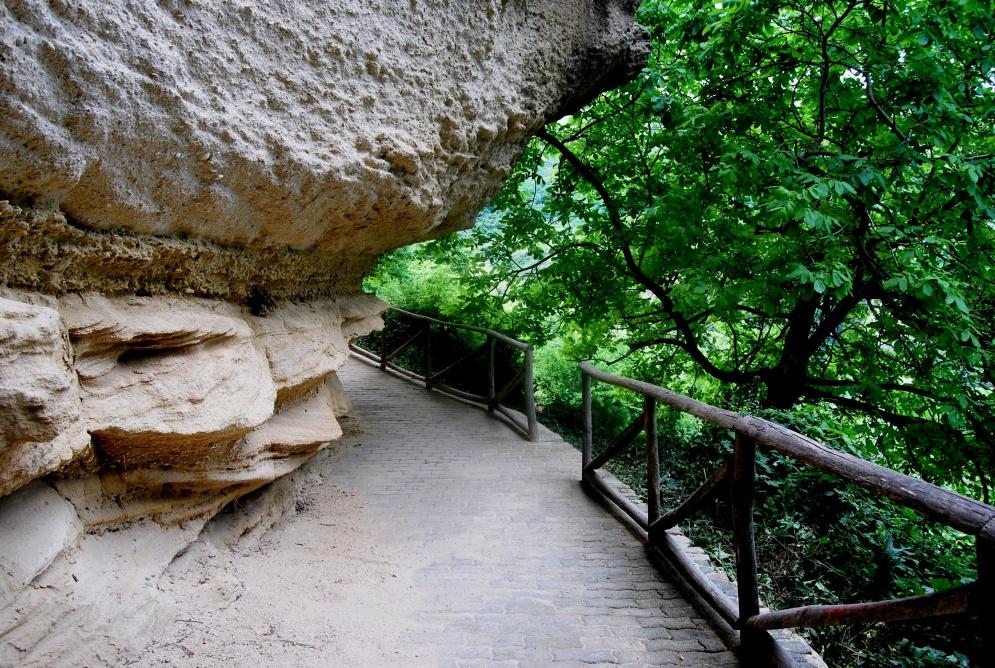 Le Grotte Saracene. Parte del percorso