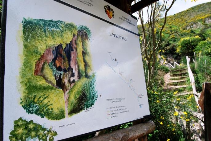 Cascata del Catafurco. Il percorso