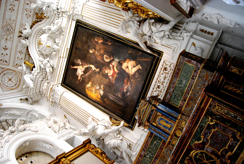 Oratorio di San Lorenzo a Palermo. La preziosa copia della Natività di Caravaggio patrocinata da Skyarte