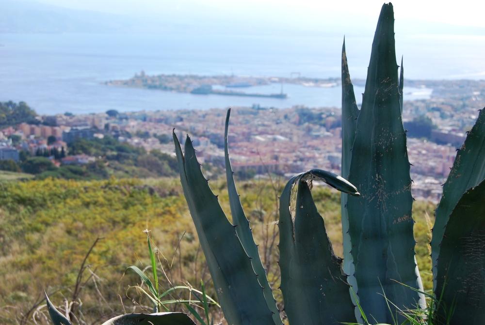 Il porto di Messina e la stele della Madonna della Lettera