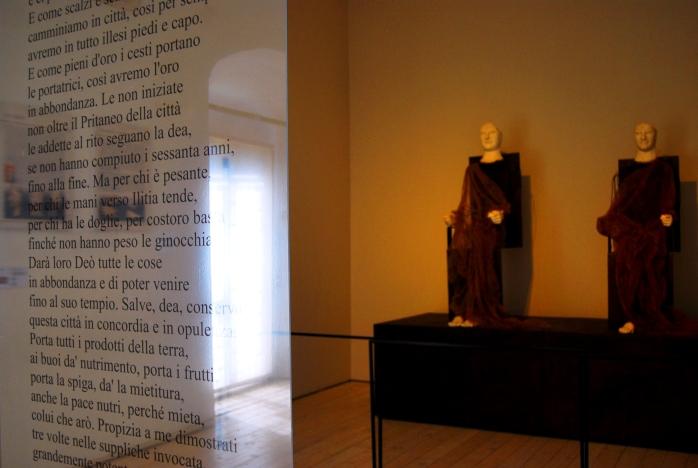Gli acroliti di Demetra e Kore. Museo Archeologico di Aidone